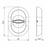 Декоративная накладка FUARO ESC-13S-CP (хром)