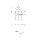 Накладки на цилиндр APECS DP-C-05-GM (мат. золото)