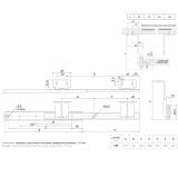 Шариковые направляющие DB3521Zn/350 BOYARD (под клавиатуру)