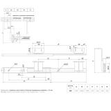 Шариковые направляющие DB3522Zn/350 BOYARD (под клавиатуру)