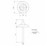 Поворотник Apecs TT-0705-6/75 AB (бронза)