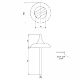 Поворотник Apecs TT-0705-6/75 CR (хром)
