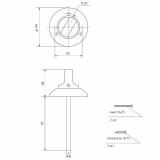 Поворотник Apecs TT-0803-6 CR (хром)
