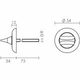 Ручка поворотная Fuaro HMR 8x75 CP