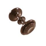 """Ручка-кнопка дверная РК-1 """"Ромашка"""" (темно-коричневая)"""