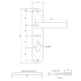 Ручки на планке Apecs HP-42.0123-S-C-CR-R