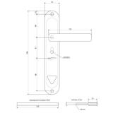 Ручки на планке Apecs HP-61.0723-S-C-CR-R