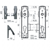Ручка-штанга нажимная Apecs BP-1300A-PANIC-BL/SL