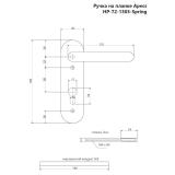Ручки на планке Apecs HP-72.1303-GR (SPRING)