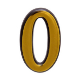 Цифра дверная большая 0 (золото)