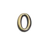 Цифра дверная 0 (золото)