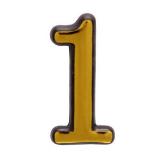 Цифра дверная большая 1 (золото)