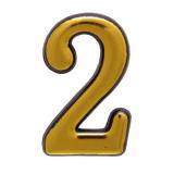 Цифра дверная большая 2 (золото)