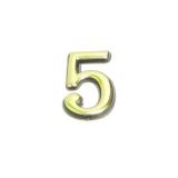 Цифра дверная 5 (золото)