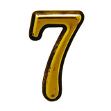 Цифра дверная большая 7 (золото)