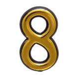 Цифра дверная большая 8 (золото)