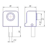 Упор дверной DS-2751-M-NIS Apecs