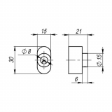 Вертушка для цилиндра Armadillo CB-S-CP-8 (хром)