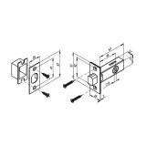 Задвижка врезная Punto DB-45-SN (мат. никель)