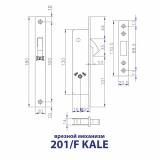 Замок врезной Kale Kilit 201F (3 ключа)