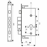 Замок врезной 2524-3Р-L (автомат)