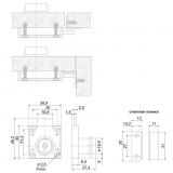 Мебельный замок Z148CP.1/22 BOYARD