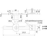 Мебельный замок Z518CP.3/140 BOYARD