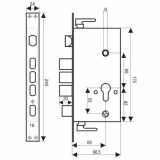 Замок врезной ЗВ1-09ATM-L (автомат)