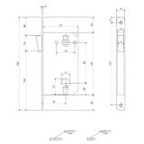 Замок врезной магнитный Apecs 5300-M-AB (бронза)