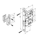 Защелка Punto L72-50-CP (хром)