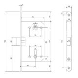 Защелка Apecs 5300-P-WC-AC (медь)
