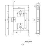 Защелка Apecs 5300-WC-AB (бронза)