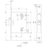 Защелка Apecs 5600-WC-AC (медь)