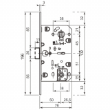 Защелка магнитная AGB B06102.50.03.567 WC (латунь)