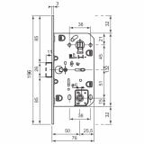 Защелка магнитная AGB B06102.50.12.567 WC (бронза)