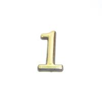 Цифра дверная 1 (золото)