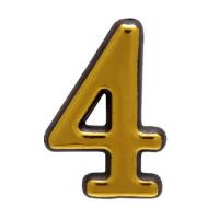 Цифра дверная большая 4 (золото)