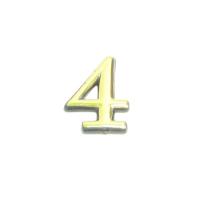 Цифра дверная 4 (золото)