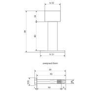 Упор дверной DS-0009-INOX (85мм)