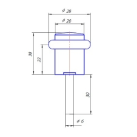 Упор дверной DS-0013-AC Apecs