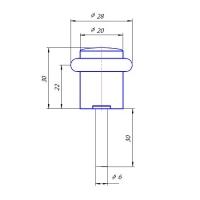 Упор дверной DS-0013-GM Apecs