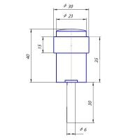 Упор дверной DS-0014-AC Apecs