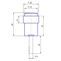 Упор дверной DS-0014-GM Apecs