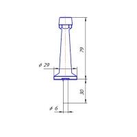 Упор дверной DS-0015-AC Apecs