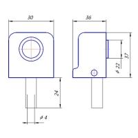 Упор дверной DS-2751-M-AB Apecs