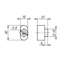 Вертушка для цилиндра Armadillo CB-S-SN-3 (мат. никель)