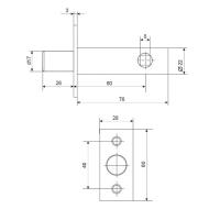 Задвижка дверная Apecs L-0260 CR (хром)