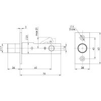 Задвижка врезная Fuaro DB 860 CP (хром)