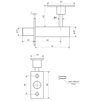 Задвижка торцевая Apecs FL-0360 CR (хром)