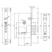 Замок врезной Kale Kilit 252RL (5 ключей - полный комплект)